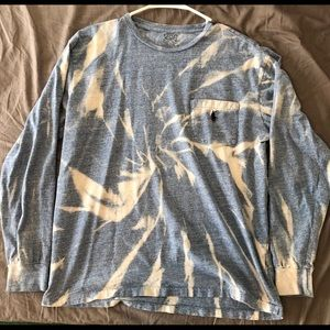 Blue bleached polo Ralph Lauren long sleeve
